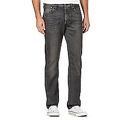 Levi's - 501® Big and tall vintage wash grey straight leg jeans