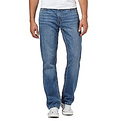 Levi's - 514&#8482  vintage wash light blue straight fit jeans