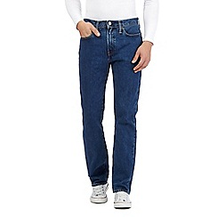 Levi's - 514 stonewash blue straight leg jeans