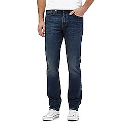 Levi's - 511&#8482 vintage wash dark blue straight leg jeans