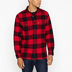 Levi's - Dark red plaid western style shirt