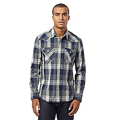Levi's - Blue plaid western style shirt