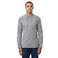 Levi's - Blue gingham checked long sleeved shirt