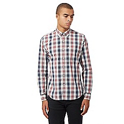 Levi's - Dark blue and red checked long-sleeved shirt