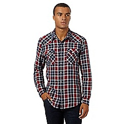 Levi's - Blue and red barstow western checked shirt