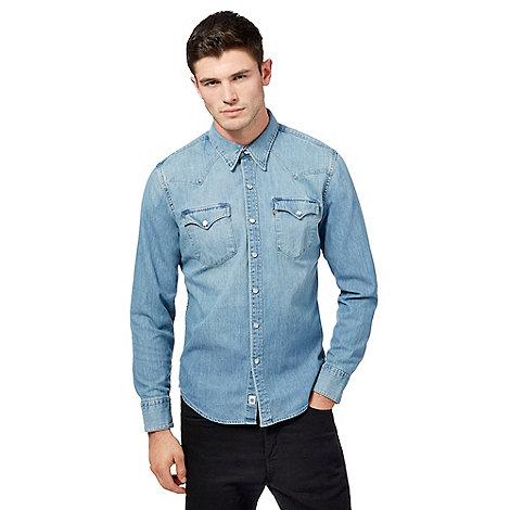 Levi 39 S Light Blue Wash Denim Shirt Debenhams