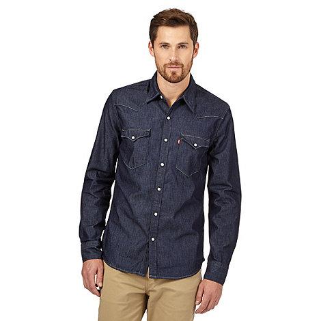 levis dark blue denim shirt debenhams