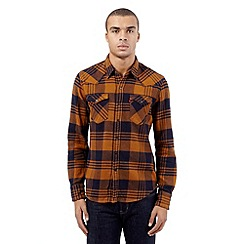 Levi's - Orange checked print shirt
