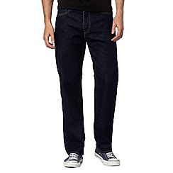 Levi's - 751&#8482 rinsewash dark blue straight leg jeans