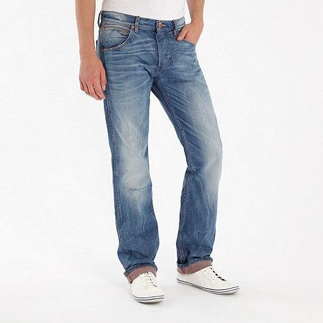 Wrangler - Crank blue straight leg jeans