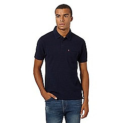 Levi's - Dark blue plain pique polo shirt