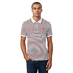 Levi's - Red striped print polo shirt