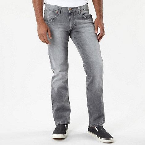 Wrangler - Crank grey straight leg jeans