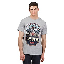 Levi's - Grey graphic logo print t-shirt