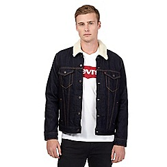 Levi's - Dark blue borg denim jacket
