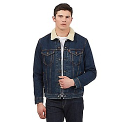 Levi's - Blue sherpa denim jacket