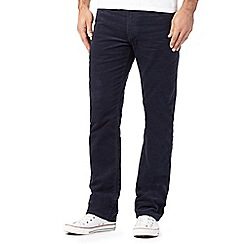 Wrangler - Big and tall navy corduroy arizona trousers