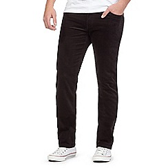 Wrangler - Big and tall black arizona corduroy jeans