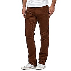 Wrangler - Big and tall tan arizona trousers