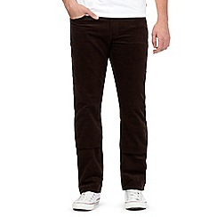 Wrangler - Big and tall brown arizona corduroy jeans