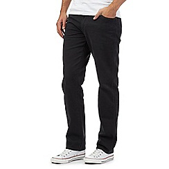 Wrangler - Dark grey stretch cord trousers