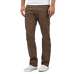 Wrangler - Tan straight leg cord trousers