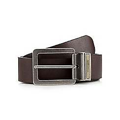 Wrangler - Big and tall black reversible pin buckle belt
