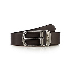 Wrangler - Brown reversible pin buckle belt