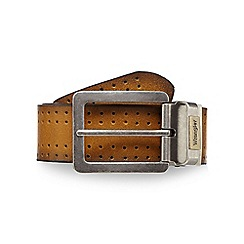 Wrangler - Big and tall tan leather reversible leather belt