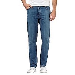 Wrangler - Big and tall blue stretch raw jeans
