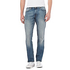 Wrangler - Blue vintage wash straight leg jeans