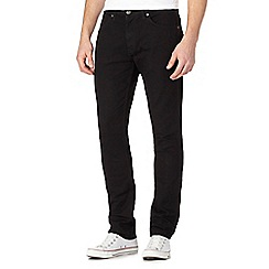 Wrangler - Bostin black rinse water resistant slim fit jeans