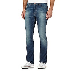 Wrangler - Bostin blue vintage wash slim fit jeans