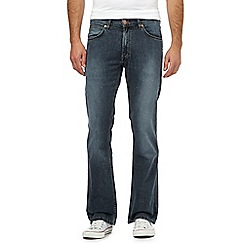 Wrangler - Jacksville blue mid wash water resistant bootcut jeans