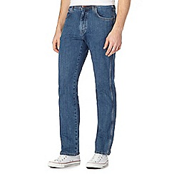 Wrangler - Big and tall blue 'arizona' stonewashed regular straight jeans