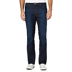 Wrangler - Big and tall Arizona dark blue rinse jeans