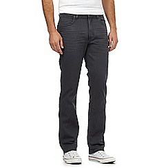 Wrangler - Big and tall Arizona grey water resistant straight jeans