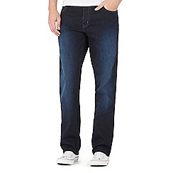 Wrangler - Blue water resistant dark wash regular leg jeans