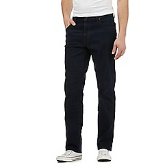 Wrangler - Big and tall navy raw wash Texas regular jeans