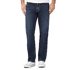 Wrangler - Blue mid wash Texas straight leg jeans