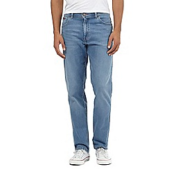 Wrangler - Big and tall Texas light blue mid wash stretch jeans