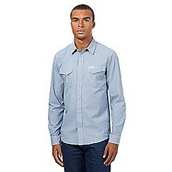 Wrangler - Blue dogtooth shirt