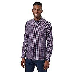 Wrangler - Red checked button down pocket shirt