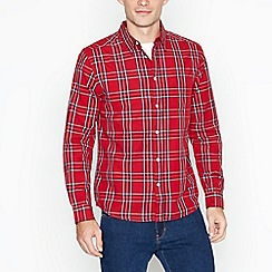 Wrangler - Big and tall red buttoned check shirt