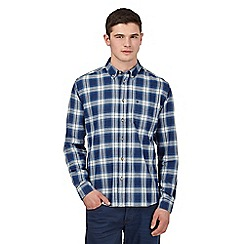 Wrangler - Big and tall blue pocket detail shirt