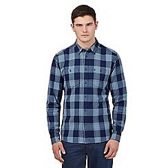 Wrangler - Blue buttoned check shirt