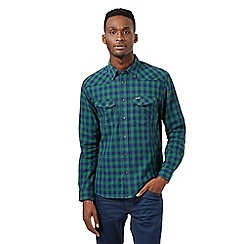 Wrangler - Big and tall green checked western shirt