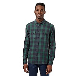 Wrangler - Big and tall green checked shirt