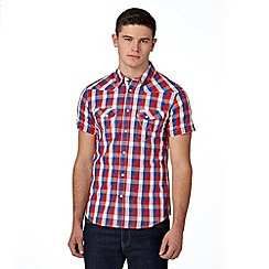 Wrangler - Red western checked shirt