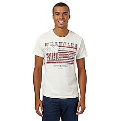 Wrangler - White 'US Flag' print t-shirt